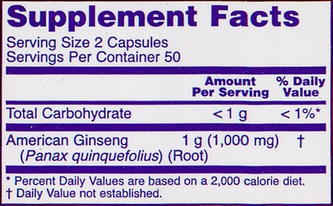 Now Foods - American Ginseng, 500 mg, 100 Capsules