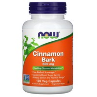 Now Foods Cinnamon Bark, 120 caps / 600 mg