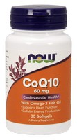 CoQ10 60 mg Now Foods 30 Softgel