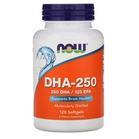 Now Foods DHA - 250, 120 softgels