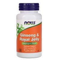 Now Foods Ginseng & Royal Jelly, 90 caps