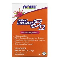 Now Foods - Instant Energy B12, 2000 mcg, 75 Packets, (1 g) Each