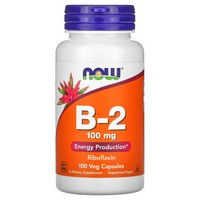 Now Foods Vitamin B-2 (Riboflavin), 100 caps / 100mg