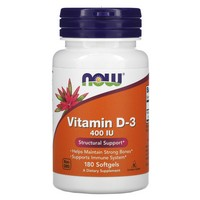 Now Foods Vitamin D 400IU, 180 softgels