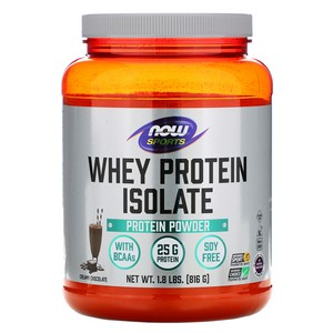 Now Foods - Whey Protein Isolate, Dutch Chocolate, 1.8 lbs (816 g)