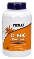 Now Foods - C-500 Complex, 250 Tablets