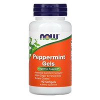 Now Foods - Peppermint Gels, 90 Softgels