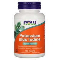 Now Foods - Potassium Plus Iodine, 180 Tablets