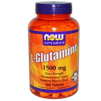 Now Foods - Sports, L-Glutamine, 1500 mg, 180 Tablets