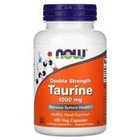 Now Foods - Taurine, Double Strength, 1000 mg, 100 Capsules