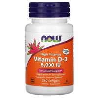 NOW VITAMIN D-3 5000 IU - 240 SOFTGELS