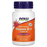 NOW Foods - High Potency Vitamin D-3 Structural Support 2000 IU - 240 Softgels
