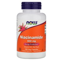 Now Foods Niacinamide (B-3) 500mg 100 Caps