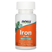 Now Foods Iron 18 mg - 120 Vcaps