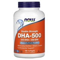 Now Foods - DHA-500, Double Strength, 180 Softgels