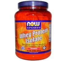 Now Foods - Sports, Whey Protein Isolate, Strawberry, 1.8 lbs. (816 g)