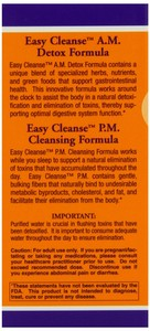 Now Foods - Easy Cleanse, 2 Bottles, 60 Vcaps Each