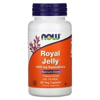 NOW Foods, ROYAL JELLY 1500mg 60 CAPS