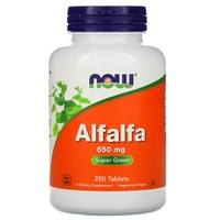 Now Foods - Alfalfa, 650 mg, 250 Tablets
