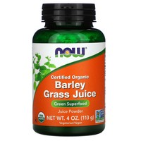 Now Foods - Organic, Barley Grass Juice, Powder, 4 oz (113 g)
