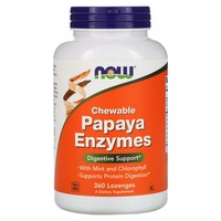 Now Foods - Papaya Enzymes, Chewable, 360 Lozenges