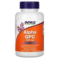 NOW Foods - Alpha GPC Cognitive Support 300 mg. - 60 Vegetarian Capsules