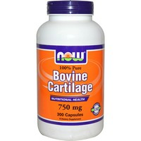 Now Foods - Bovine Cartilage, 750 mg, 300 Capsules