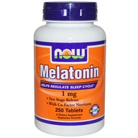 Now Foods - Melatonin, 1 mg, 250 Tablets