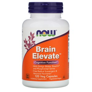 NOW Foods - Brain Elevate Vegetarian - 120 Vegetarian Capsules
