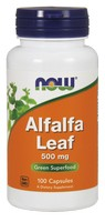 Now Foods - Alfalfa Leaf, 500 mg, 100 Capsules