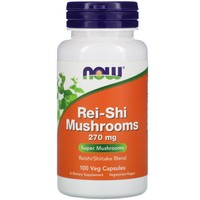 Now Foods - Rei-Shi Mushrooms, 270 mg, 100 Capsules