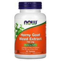 Now Foods Horny Goat Weed Extract 750 Mg 90 Tablets