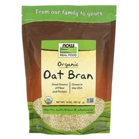 Now Foods Oat Bran - 14 oz