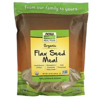 Now Foods Flax Seed Meal 18oz Organic Non-Ge