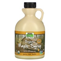 Now Foods - Real Food, Organic Maple Syrup, Grade A, Medium Amber, 32 fl oz (946 ml)