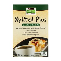 Now Foods - Xylitol Plus, 75 Packets, 4.76 oz (135 g)