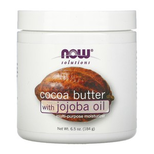 Now Foods - Solutions, Cocoa Butter, with Jojoba Oil, 6.5 fl oz (192 ml)