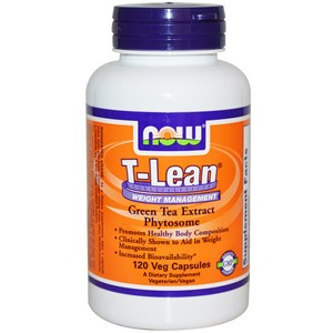 Now Foods - T-Lean Weight Management, Green Tea Extract Phytosome, 120 Veggie Cap