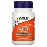Now Foods - 5-HTP, Chewable, Natural Citrus Flavor, 100 mg, 90 Chewables
