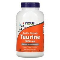 Now Foods - Taurine, Double Strength, 1000 mg, 250 Capsules