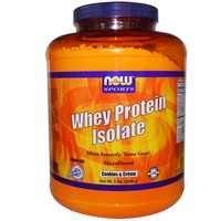 Now Foods - Whey Protein Isolate, Cookies & Creme, 5 lbs (2268 g)