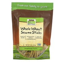 Now Foods - Real Food, Whole Wheat Sesame Sticks, 9 oz (255 g)