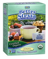 Now Foods - Organic BetterStevia, Zero Calorie Sweetener, 35 Packets, (1 g) Each
