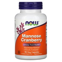 Now Foods Mannose Cranberry Capsules, 90 Count