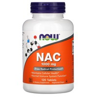 Now Foods - NAC, 1000 mg, 120 Tablets