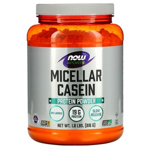 Now Foods - Sports, Micellar Casein, Instantized, Natural Unflavored, 1.8 lbs (816 g)