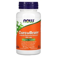 Now Foods - CurcuBrain, Cognitive Support, 400 mg, 50 Veggie Caps