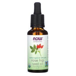 Now Foods - Solutions, Certified Organic Rose Hip Seed Oil, 1 fl oz (30 ml)