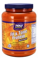 Now Foods, Fit and Tone Protein, Mocha Flavor, 1.8 lbs (816 g)