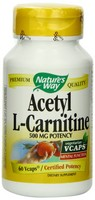 Nature's Way, Acetyl L-Carnitine, 500 mg, 60 Vcaps